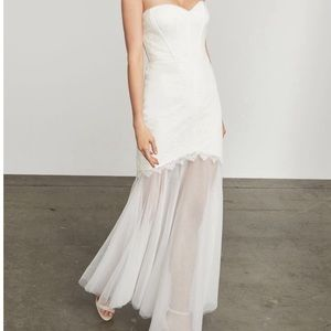 BCBGMaxazria Alyce Lace and Tulle Dress Gown